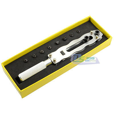 Adjustable Wrench Back Cover battery Case Remover Opener Watch Repair Tool Kit