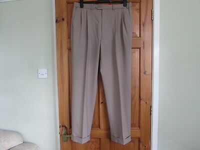 New M&S northern soul / 50s twin pleated turn up trousers W 36 X L 31