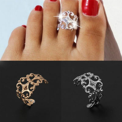 Fashion Women Vintage Toe Ring Adjustable Foot Beach Jewelry Gift Accessory
