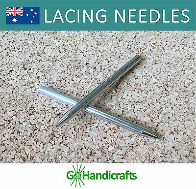 2 x FID LACING WEAVING NEEDLE for LEATHER PARACORD 3 inch or 7.5cm STAINLESS