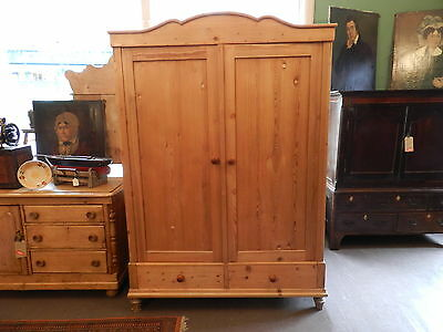 19th Century Antique Pine Knock Down Double Wardrobe - Delivery available