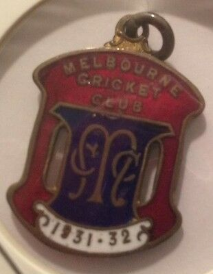 Melbourne cricket club 1931 Country badge