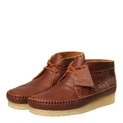 New Mens Clarks Originals  Weaver Boot - Tan Leather 100% Leather