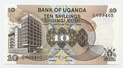 Uganda 10 Shilingi ND 1979 Pick 11 UNC Uncirculated Banknote