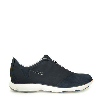 Mens Geox Nebula Navy Trainer Shoes