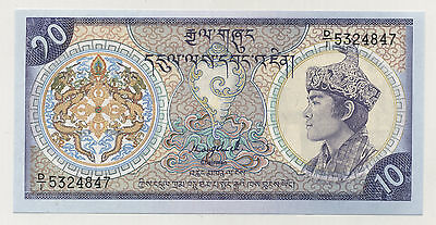 Bhutan 10 Ngultrum 1992 Pick 15.b UNC Uncirculated Banknote