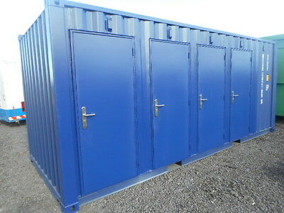 20' x 8' shipping container 4 compartment portable building self storage secure