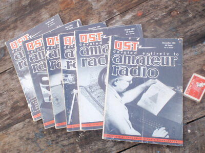 "6 x 1950's  Amateur Radio Magazines"" illustrated"
