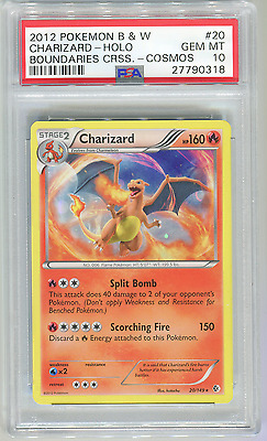 Pokemon Boundaries Crossed Charizard 20/149 Cosmos Holo PSA 10 Pop 1 Ultra Rare