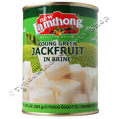 NEW LAMTHONG YOUNG GREEN JACKFRUIT IN BRINE - 6 x 565G TINS