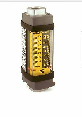 Hedland H801A-150 Flow Meter 3500 PSI Variable Area 10-150 Gallons Per Minute