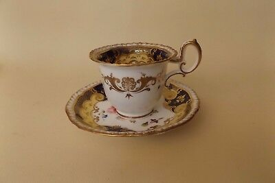 Antique H & R Daniel Coffee Cup and Saucer Circa Early 19th Century