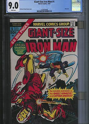 Giant Size Iron Man # 1 CGC 9.0  White Pages. UnRestored.