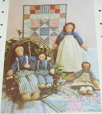 """Pattern Quilt Panel Scrap Primitive American Annie Andy Country Doll 16 11"""" Size"""