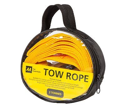 AA Official Car Essentials Strap-Style Tow Rope 2 Tonnes 3.5 Meters Breakdown