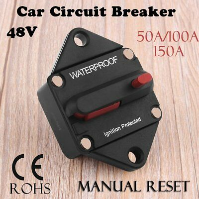 DC48V Circuit Breaker with Manual Reset Type T3 High Amp Switchable Waterproof