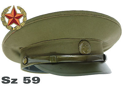 RARE SIZE 59 Original CAP officer FIELD uniform Soviet Army USSR