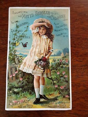 1800s Victorian Trade Card Hoyt's German Cologne Teeth Rubifoam Lowell MA