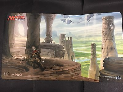 M:TG-   Ancient Tomb playmat art by Howard Lyon from Zendikar Expeditions - rare