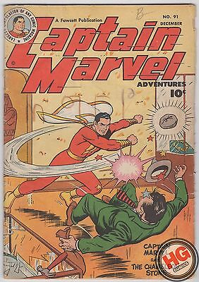 Captain Marvel Adventures #91 12/48 DC Fawcett Publications Golden Age SHAZAM!
