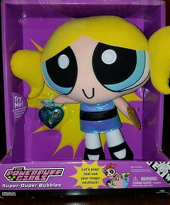 The powerpuff girls super-duper talking interactive doll with magic necklace