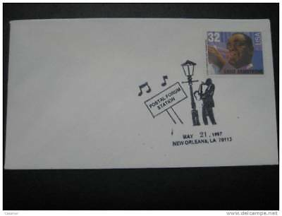 USA Louis Armstrong New Orleams 1997 Cancel Cover
