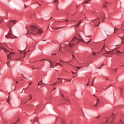 Edible Pink Hearts - Confetti Shapes by Rainbow Dust  - Cake Decorations