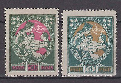 "Latvia - 1920 ""Latgale Reliefe Issue"" (MNH)"