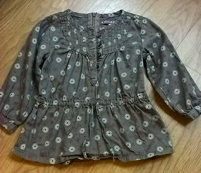 Miracle of love girls pretty pattern tunic, age 9- 12 months