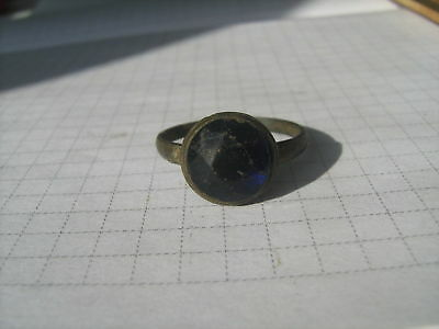 Ancient bronze ring with stone (237)