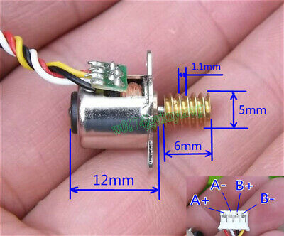 Micro 2-Phase 4-Wire 10MM 18°Angle Stepping Stepper Motor with Copper Worm Gear