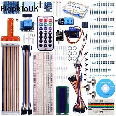 For Raspberry Pi 3 Kuman Starter projects Kit with a lcd screen remote GPIO...