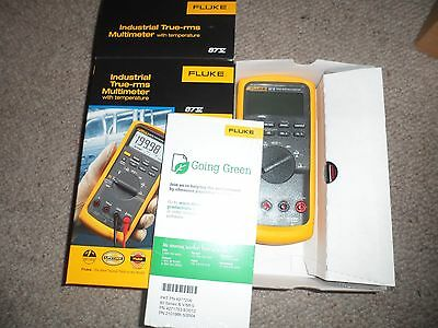 Fluke 87v Digital Multimeter **BNIB** 2017 Model + TPak 4 piece hanger Kit.