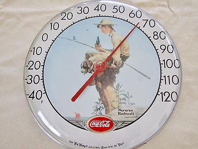 Coca-Cola (Coke) Norman Rockwell Thermometer