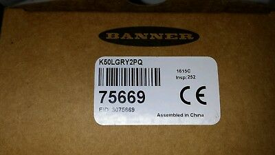 Banner K50Lgry2Pq Sensor New In Box