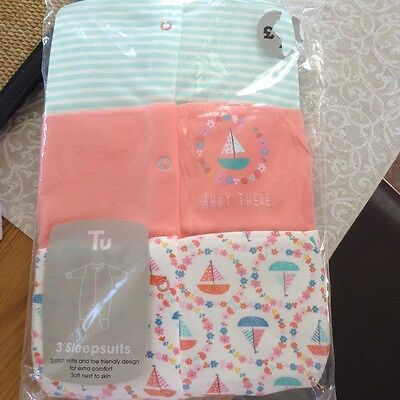 pack of 3-6 month sleepsuits
