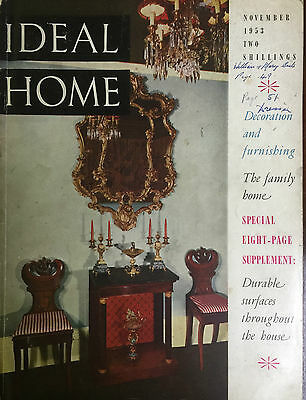 Ideal Home Magazine November 1953 Decoration & Furnishing, The Family Home