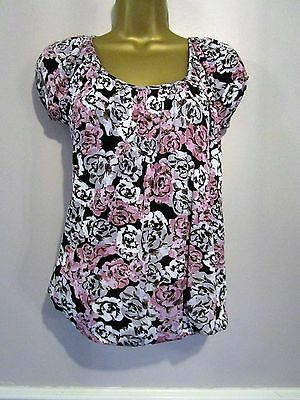 Ladies New Look floral  top size 10