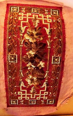 Victorian Absolutely Fabulous  Beaded Tapestry 18 By 9 Inches Intricate Excellen