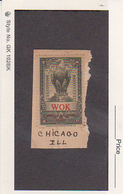 Shortwave Band Verification EKKO Reception Stamp - WOK  Chicago MNG