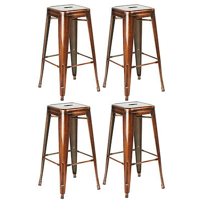 Copper Metal Breakfast Bar Stool Seat/Chair Industrial Vintage/Classic Style