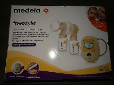 MEDELA Freestyle Double Electric Rechargable Hands Free Breastpump 67065 NIB
