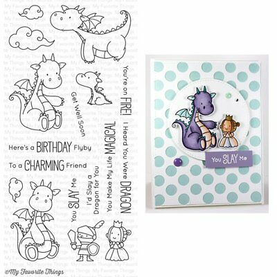 NEW 2017 -  My Favorite Things - Clear Stamps - BB Magical Dragons