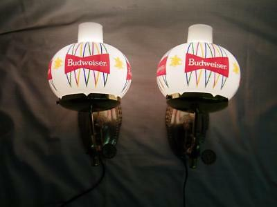 Vintage Antique Budweiser Beer Wall Sconce's Pair