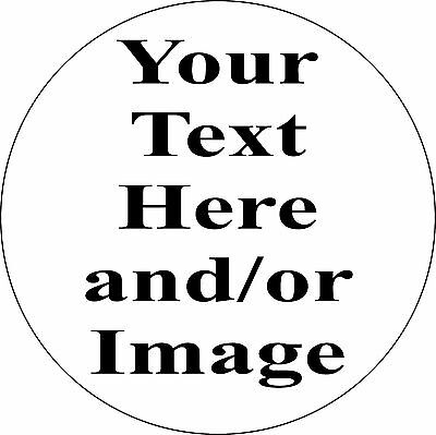 """Personalized 11.75"""" Circle Aluminum Metal Sign Customize with Text or Picture"""