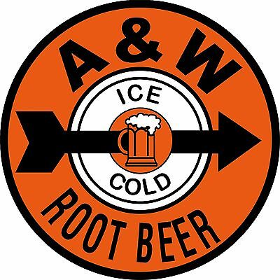 "12"" A & W Root Beer Reproduction Ad New Aluminum Metal Sign"