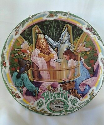 Knowles Milnazik's Wizard Of Oz If I Were King Of The Forest Music Box Plate