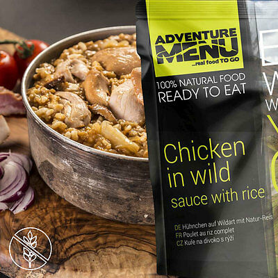 Adventure Menu Trekkingnahrung Chicken in wild sauce with rice -Hühnchen Wildart