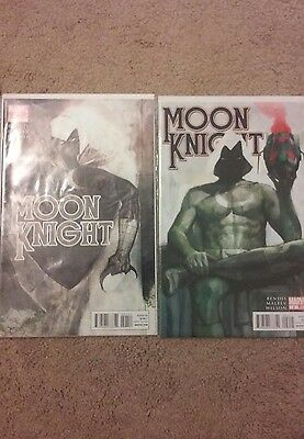 Moon Knight #1 2nd print Maleev variant & #2 (2011)