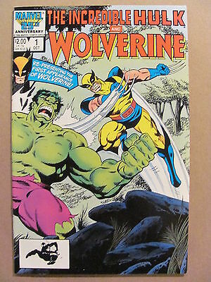 Incredible Hulk and Wolverine #1 Marvel 1986 Reprints #180 & 181 9.2 Near Mint-